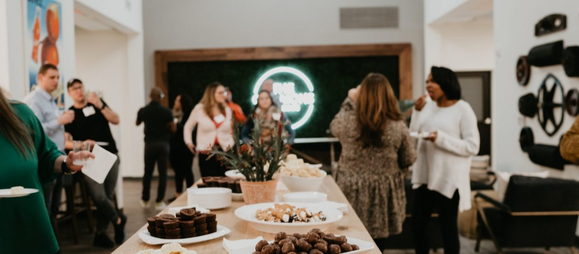 food in a coworking space